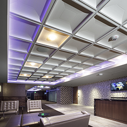 Contemporary Coffer Ceiling Tile Install USBank