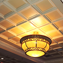 Coffered Egg and Dart Ceiling Tile, GRG
